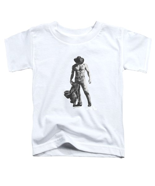 Strength Of A Cowboy Toddler T-Shirt