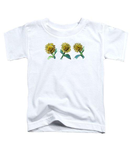 Sunflowers Trio Toddler T-Shirt