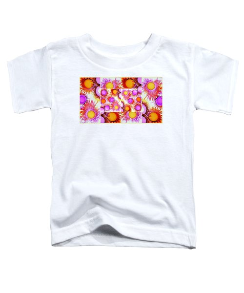 Sunny Happy Abstract Alcohol Inks Collage Toddler T-Shirt