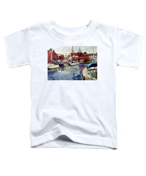 Sunset On The Harbor Toddler T-Shirt