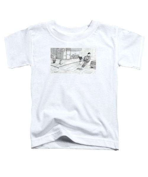 Superman Escorts An Elderly Woman Across The Road Toddler T-Shirt