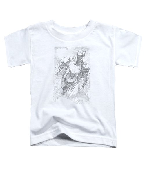 Superman - Exploding Space Sketch Toddler T-Shirt