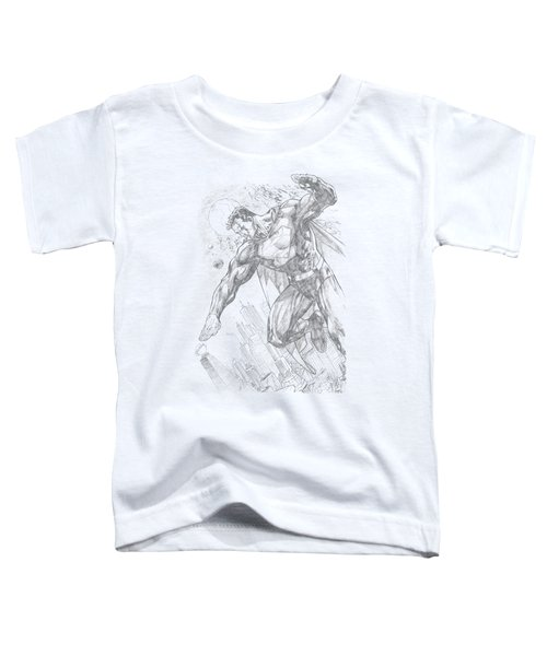 Superman - Pencil City To Space Toddler T-Shirt