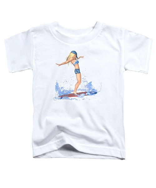 Surfing Girl Toddler T-Shirt