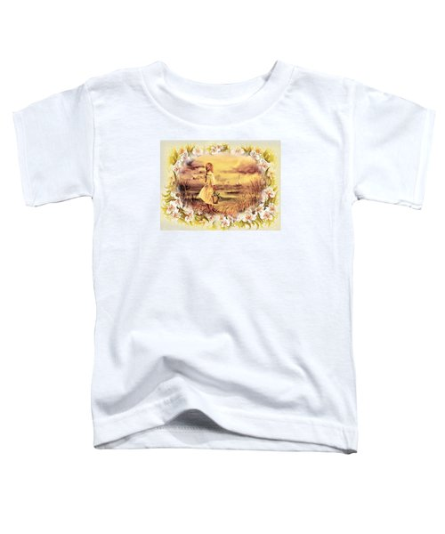 Toddler T-Shirt featuring the painting Sweet Memories A Trip To The Shore by Irina Sztukowski