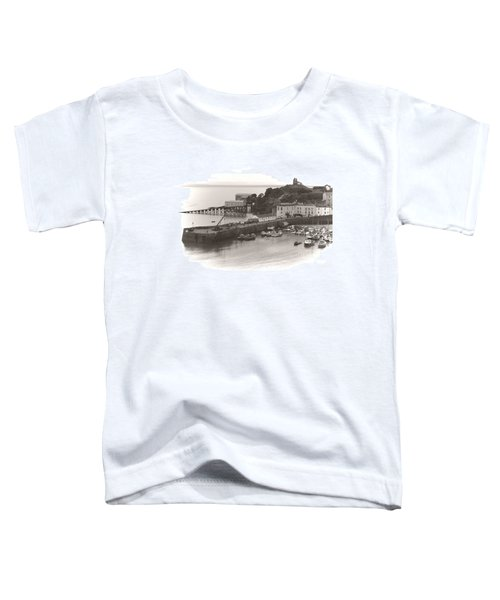 Tenby Harbour And Castle Hill Vignette Toddler T-Shirt