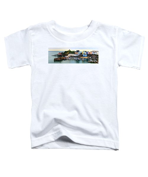 Tenby Harbour Panorama Toddler T-Shirt