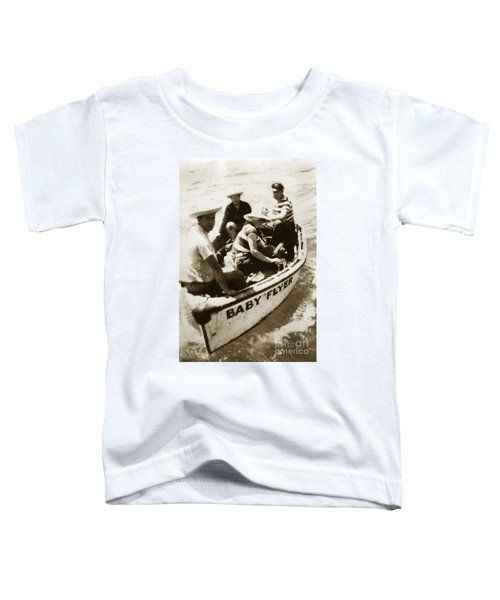 The Baby Flyer With Ed Ricketts And John Steinbeck  In Sea Of Cortez  1940 Toddler T-Shirt