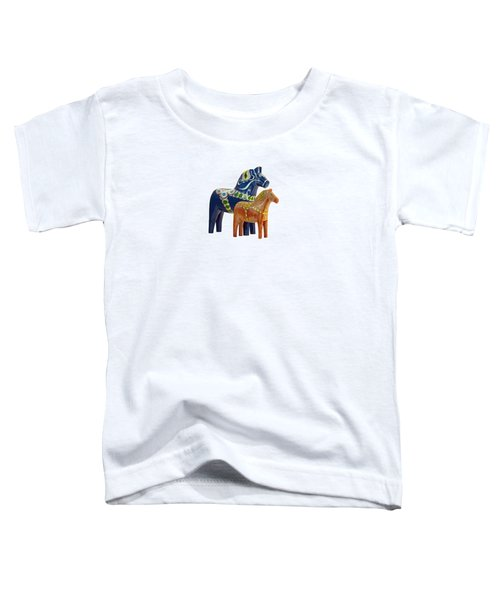 The Blue And Red Dala Horse Toddler T-Shirt