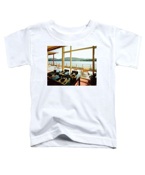 The House Of Mr. And Mrs. Alfred Rose On Lake Toddler T-Shirt