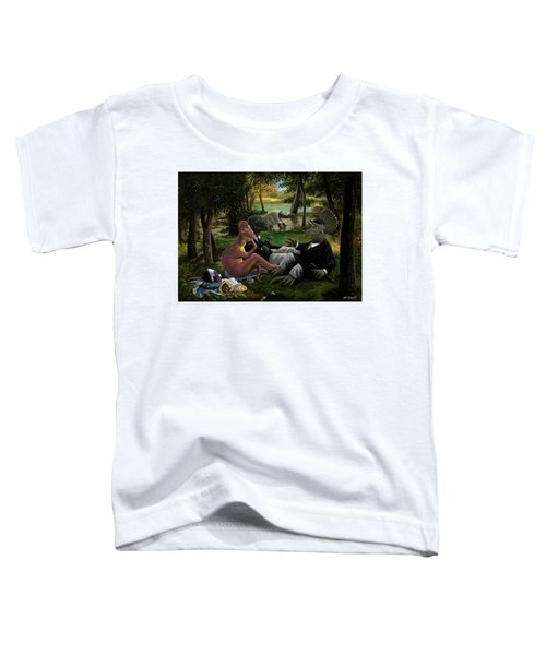 The Luncheon On The Grass With Dinosaurs Toddler T-Shirt