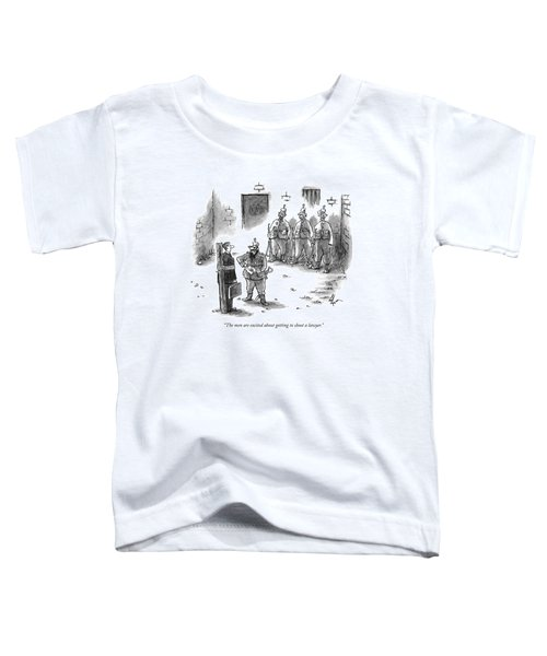 The Men Are Excited About Getting To Shoot Toddler T-Shirt