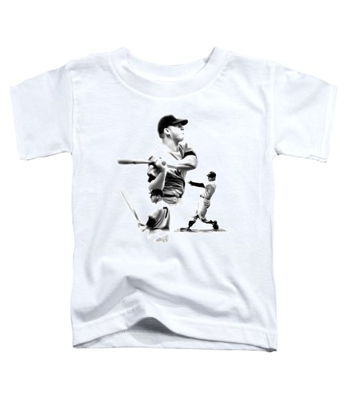 The Mick  Mickey Mantle Toddler T-Shirt by Iconic Images Art Gallery David Pucciarelli