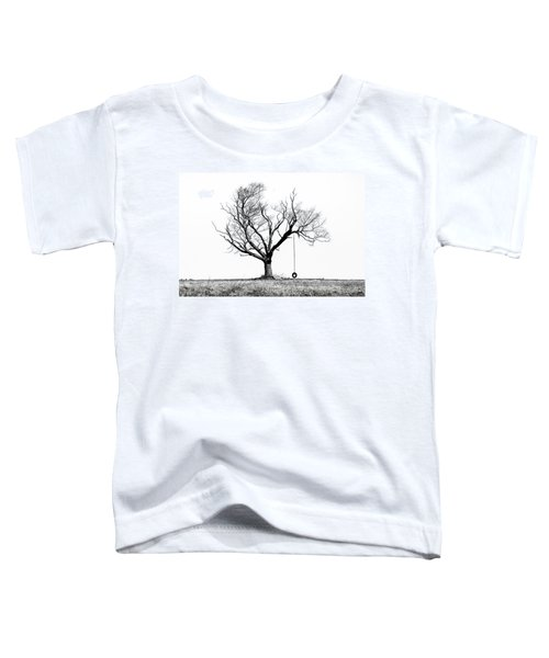 The Playmate - Old Tree And Tire Swing On An Open Field Toddler T-Shirt