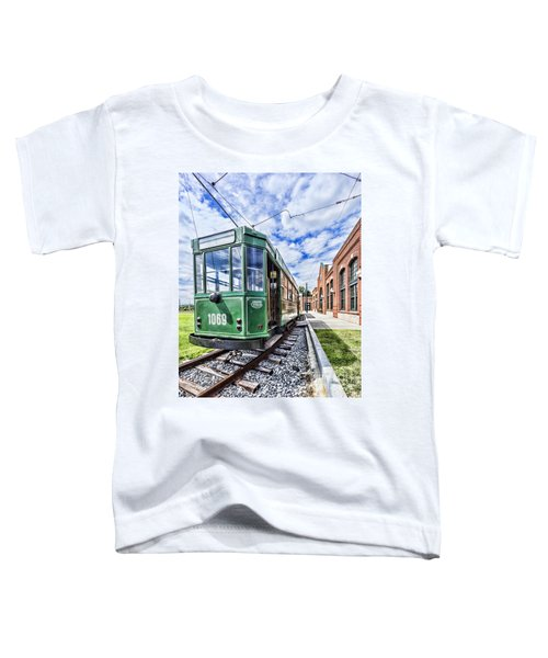 The Stib 1069 Streetcar At The National Capital Trolley Museum I Toddler T-Shirt