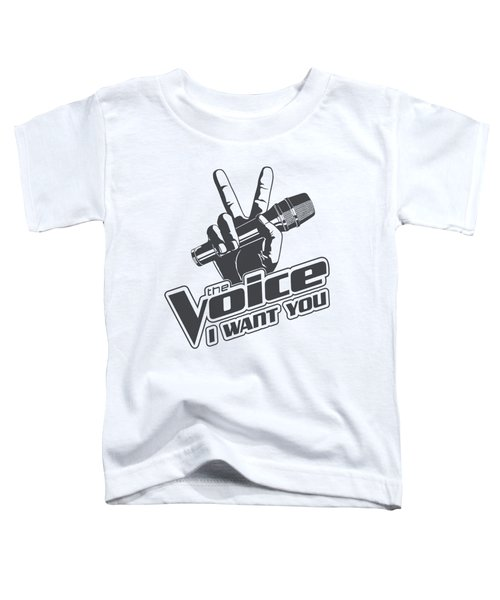 The Voice - One Color Logo Toddler T-Shirt by Brand A