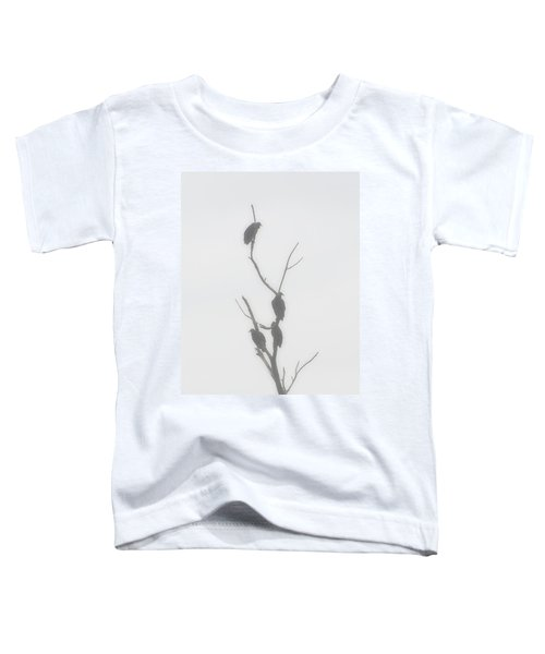 Their Waiting Four Black Vultures In Dead Tree Toddler T-Shirt by Chris Flees