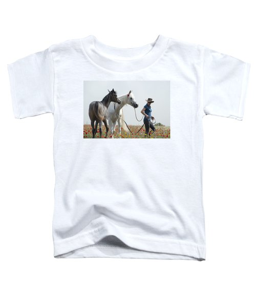 Three At The Poppies' Field... 1 Toddler T-Shirt by Dubi Roman