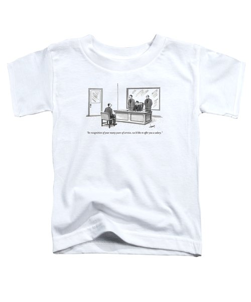 Three Businessmen Are Seen Talking To A Shabbily Toddler T-Shirt