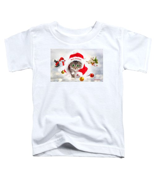 Three Christmas Kittens Toddler T-Shirt