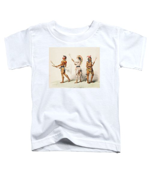 Three Indians Playing Lacrosse Toddler T-Shirt