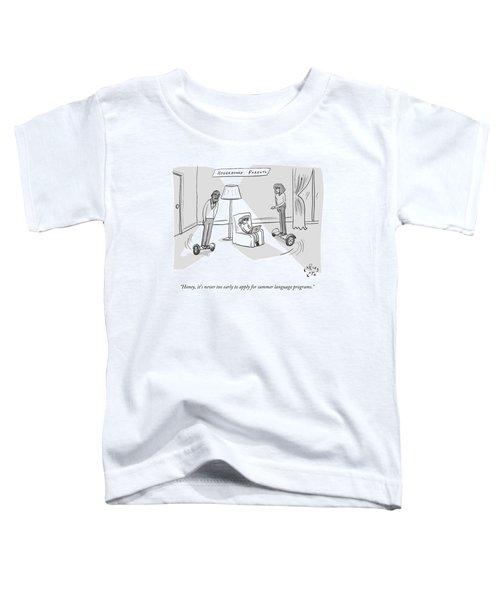Title: Hoverboard Parents. Parents Riding Toddler T-Shirt