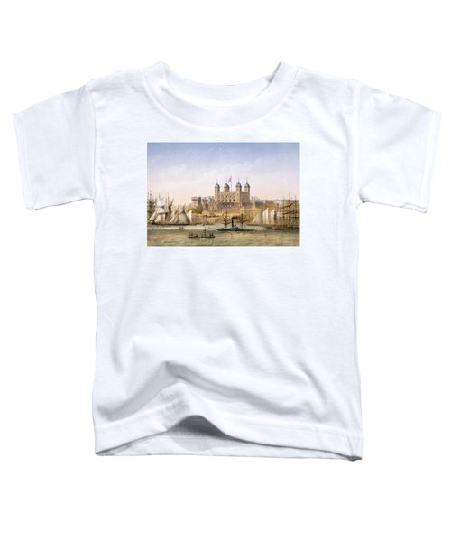 Tower Of London, 1862 Toddler T-Shirt by Achille-Louis Martinet