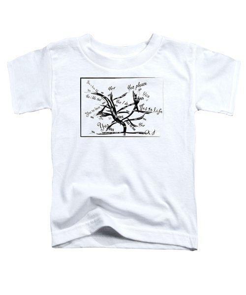 Toddler T-Shirt featuring the painting Tree Yes Tree by Go Van Kampen