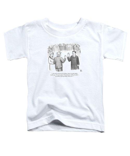 Trump Being Sworn Into Office Toddler T-Shirt