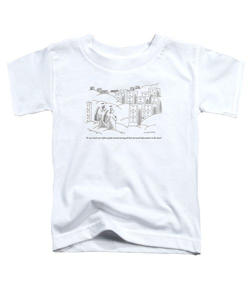 Two Angels In Heaven Observe A Landscape Toddler T-Shirt