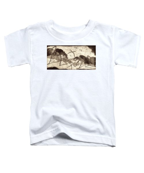 Two Ants In Communication - Etching Toddler T-Shirt