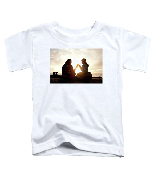 Two Beautiful Women And Toast A Beer Toddler T-Shirt