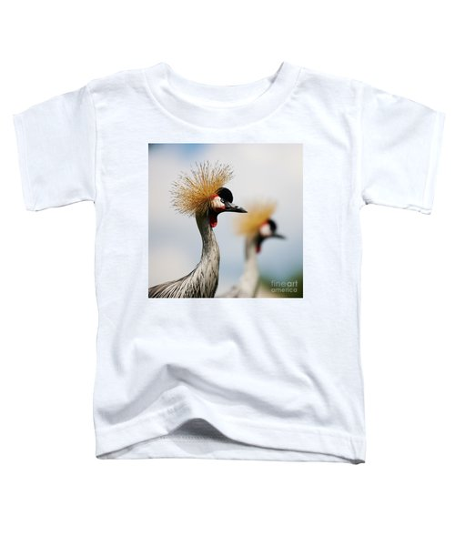 Two Black Crowned Cranes Toddler T-Shirt