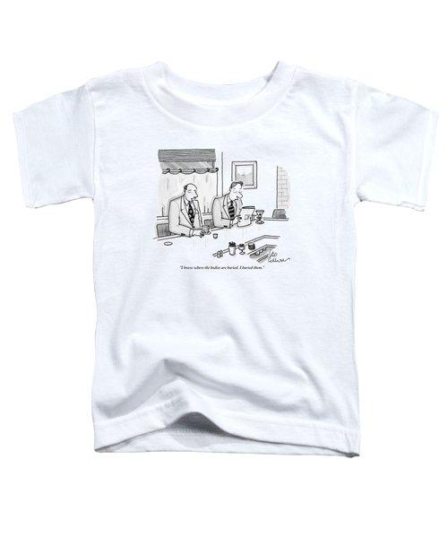Two Businessmen Sit At Bar Toddler T-Shirt