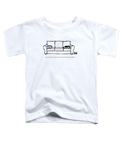 Two Cats Curl Up At Each End Of A Sofa Toddler T-Shirt