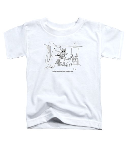 Two Cats Threaten An Old Lady Toddler T-Shirt