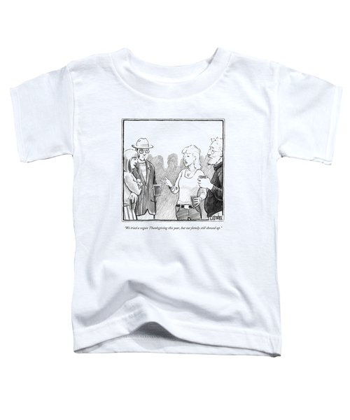 Two Couples Converse At A Party Toddler T-Shirt