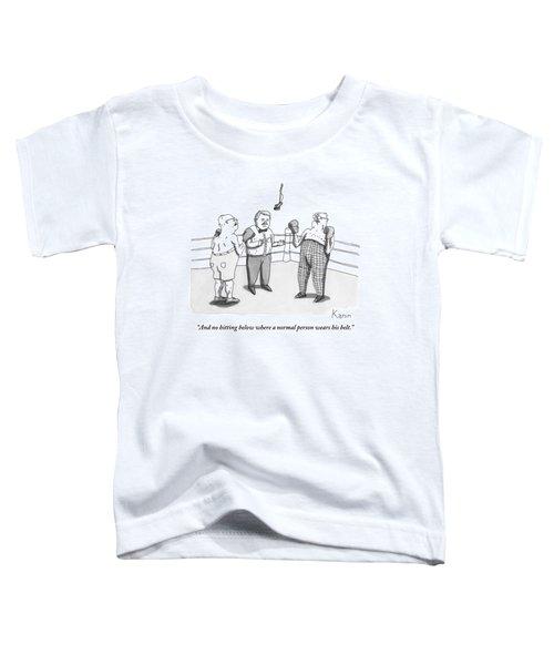 Two Elderly Men Meet In A Boxing Ring Toddler T-Shirt