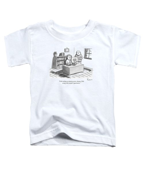 Two Guys Look At A Computer Toddler T-Shirt