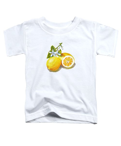 Toddler T-Shirt featuring the painting Two Happy Lemons by Irina Sztukowski