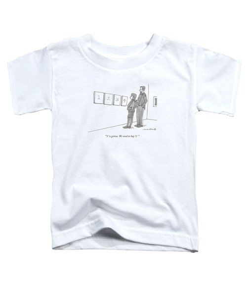 Two Hip-looking People In A Gallery Toddler T-Shirt