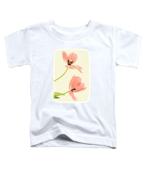 Two Tulips In Pink Transparency Toddler T-Shirt