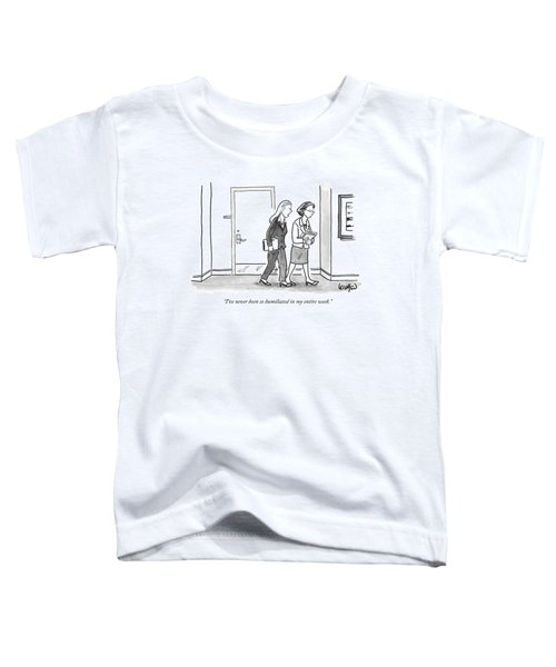 Two Women Are Seen Talking And Walking Toddler T-Shirt