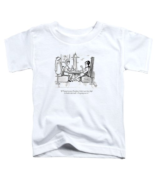 Two Women Drinking At A Restaurant Toddler T-Shirt