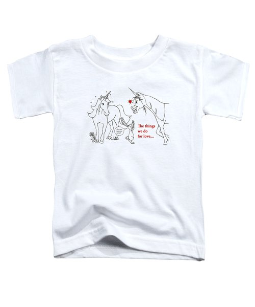 Unicorn Valentines Card Toddler T-Shirt