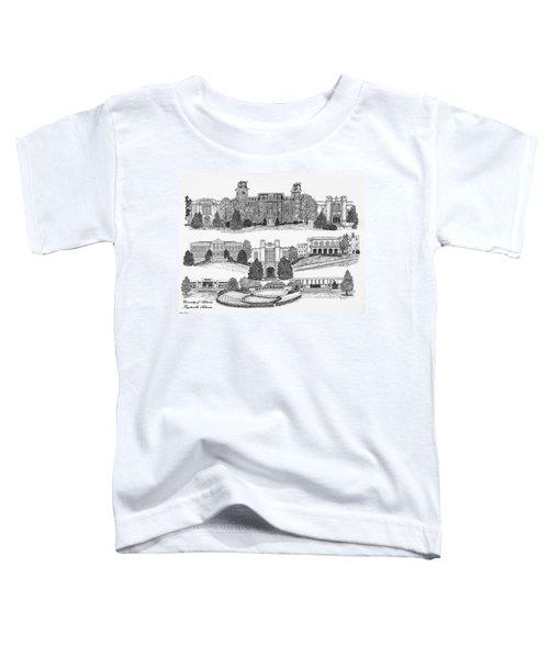University Of Arkansas Fayetteville Toddler T-Shirt by Liz  Bryant