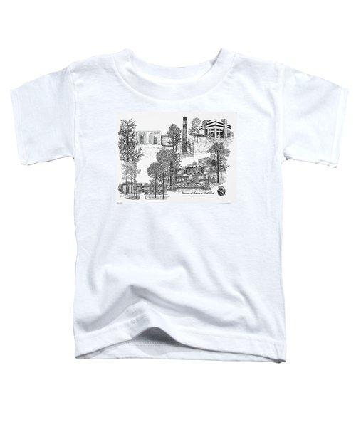 University Of Arkansas Toddler T-Shirt by Liz  Bryant