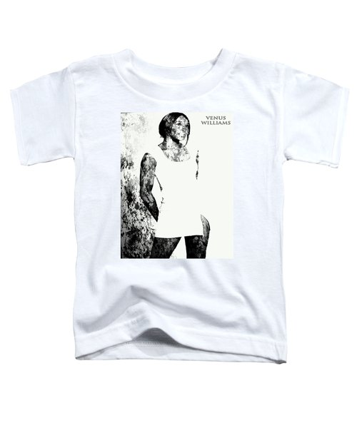 Venus Williams Paint Splatter 2c Toddler T-Shirt by Brian Reaves