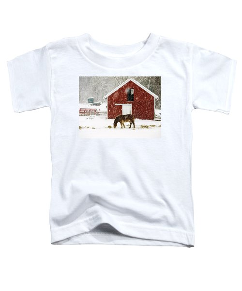 Vermont Christmas Eve Snowstorm Toddler T-Shirt