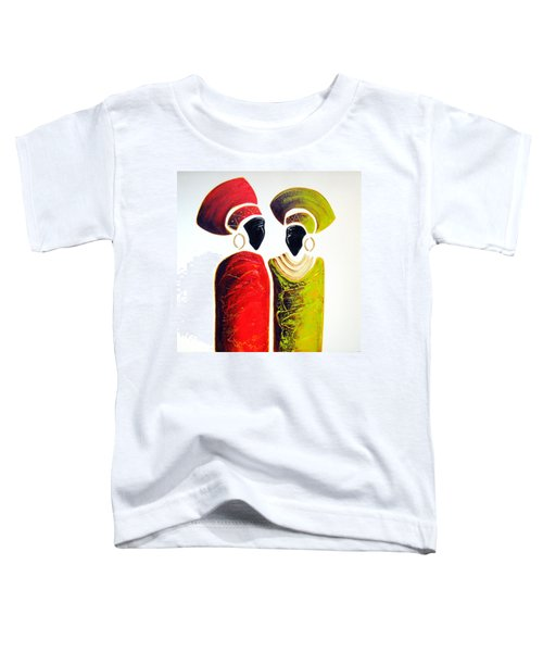Vibrant Zulu Ladies - Original Artwork Toddler T-Shirt
